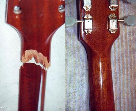 Sửa guitar cũ bị gãy cần