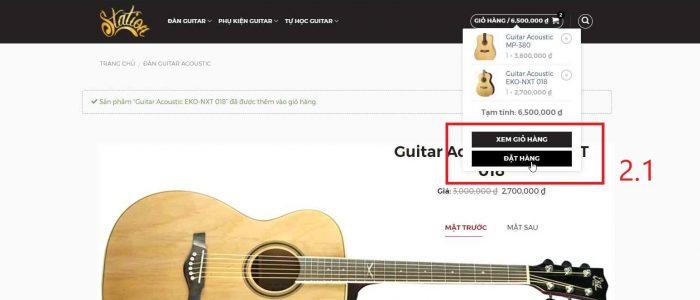 bước 2.1 - nhấn nút đặt hàng